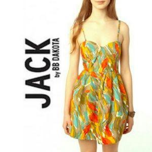 Jack by BB Dakota Bustier Paintstroke Dress Sz M